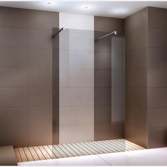 duschabtrennung freistehend walk in duschwand nano 1cm. Black Bedroom Furniture Sets. Home Design Ideas