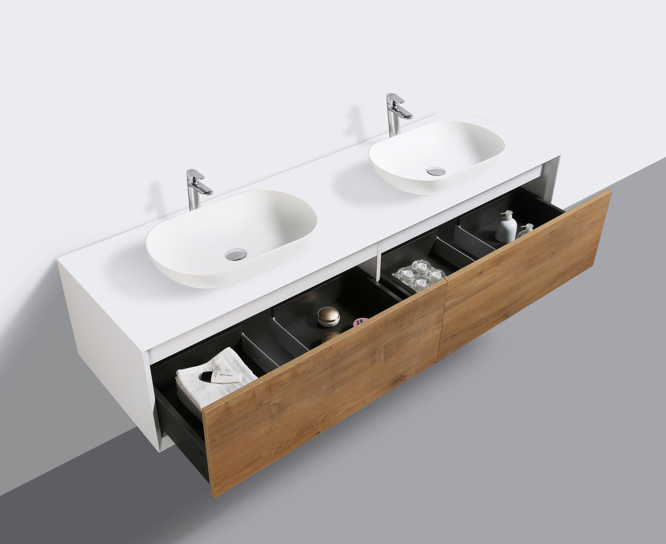 badm bel 180 cm eiche led spiegel aufsatzwaschbecken unterschrank waschtisch ebay. Black Bedroom Furniture Sets. Home Design Ideas