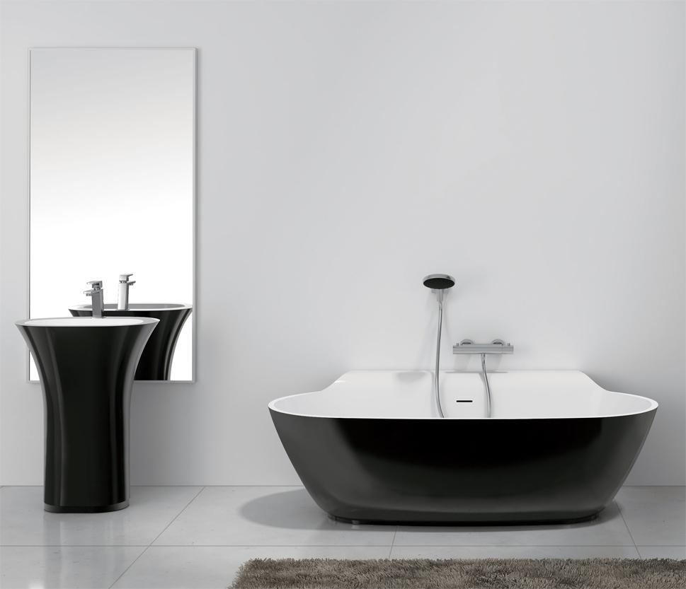 bernstein design badewanne freistehende wanne luxx stone mineralguss armatur ebay. Black Bedroom Furniture Sets. Home Design Ideas