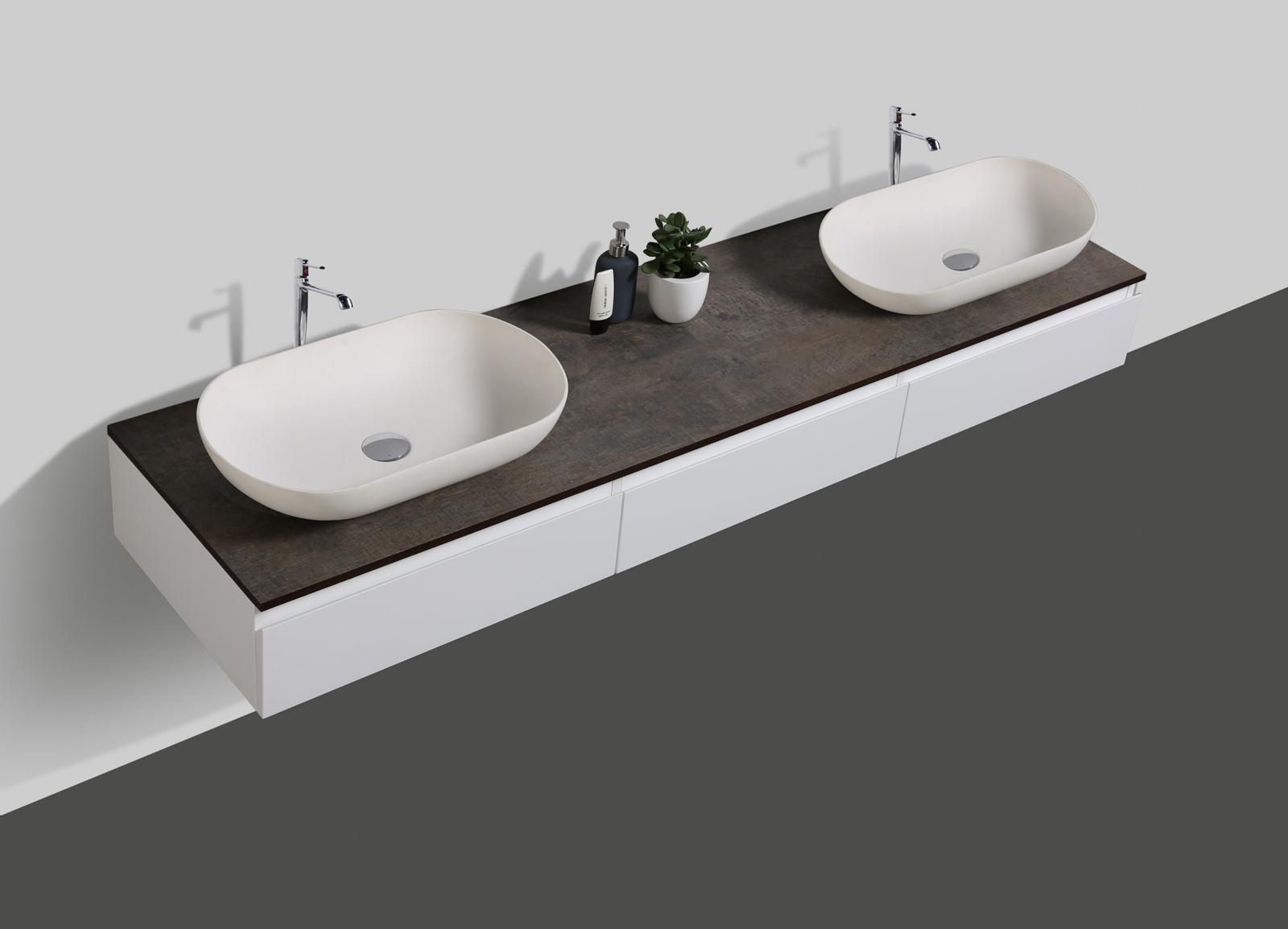 badm bel vision 180 cm wei spiegel aufsatzwaschbecken unterschrank waschtisch ebay