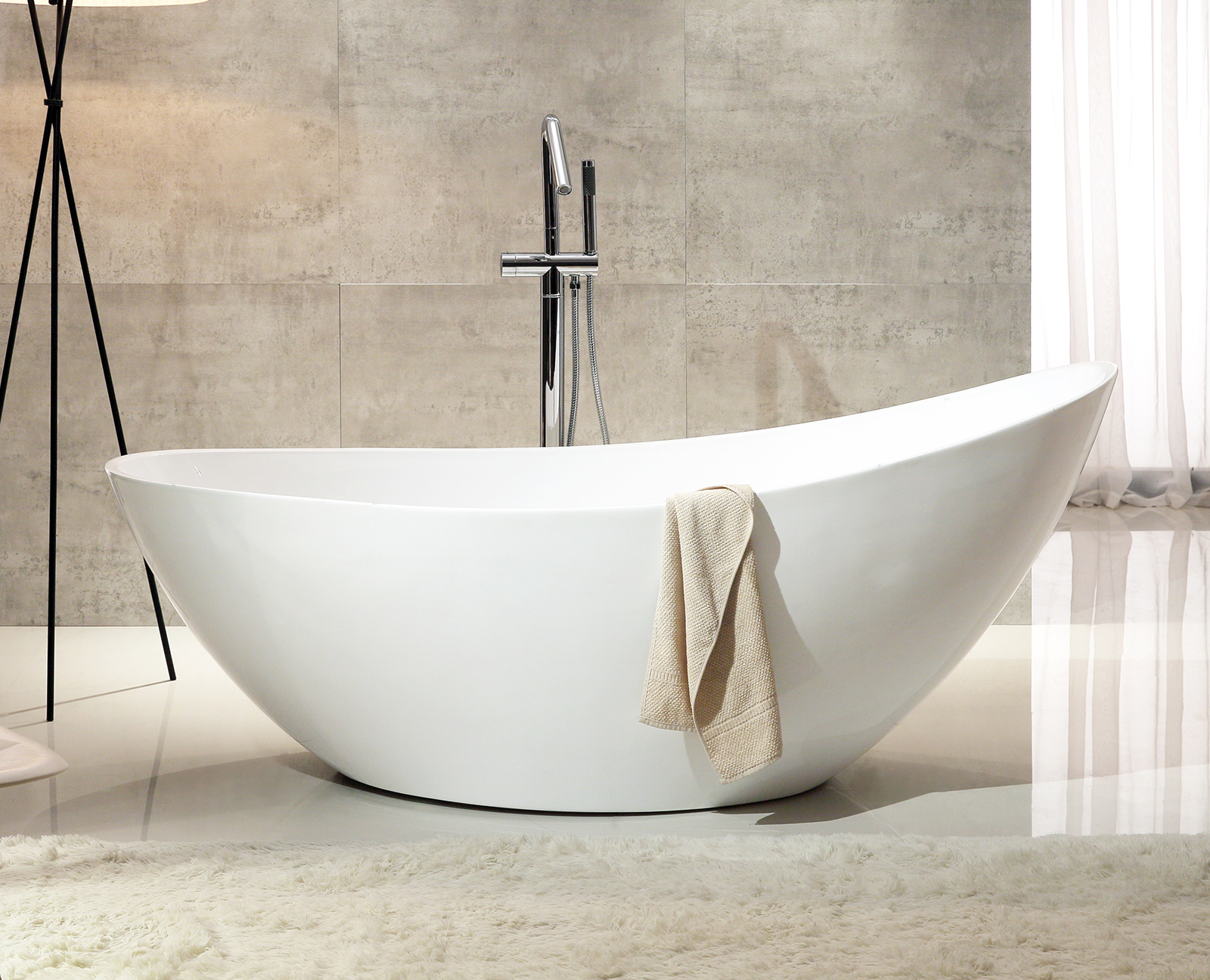 Vasca Da Bagno Freestanding In Acrilico : Vasca da bagno indipendente vice acrilico bianco cm