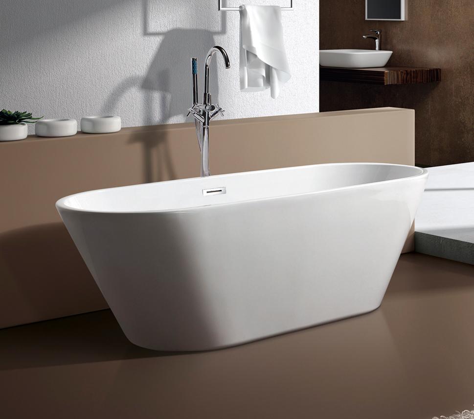 bernstein design badewanne freistehende wanne lugano acryl armatur ebay. Black Bedroom Furniture Sets. Home Design Ideas