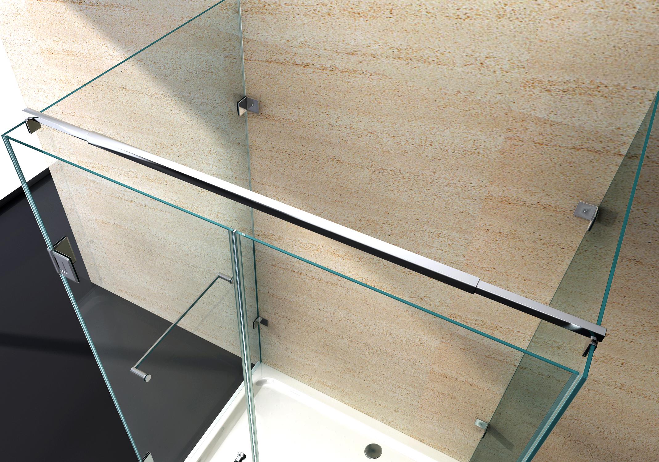 duschkabine u form duschabtrennung sicherheitsglas 8mm esg glas echtglas nano ebay. Black Bedroom Furniture Sets. Home Design Ideas