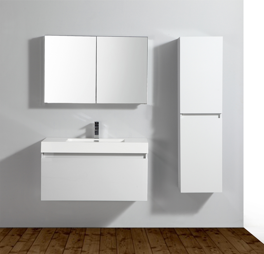bernstein de luxe meuble de salle de bain a 1000 blanc lavabo meuble mural ebay. Black Bedroom Furniture Sets. Home Design Ideas