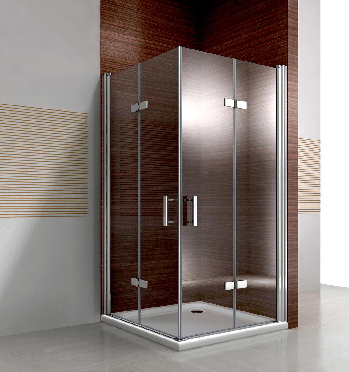 Cabina de ducha entrada esquina puerta plegable nano esg cristal 195cm ebay - Puerta plegable bano ...