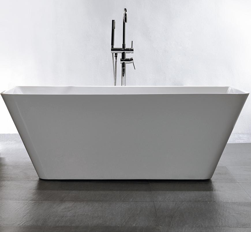 Vasca da bagno freestanding venezia rubinetti a scelta - Bagno senza finestra odori ...