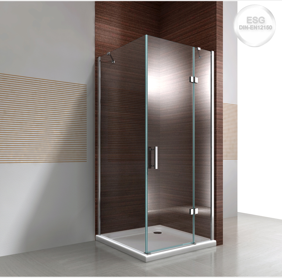 duschkabine dusche eckdusche nano glas echtglas ex403 90x90x195cm ebay. Black Bedroom Furniture Sets. Home Design Ideas