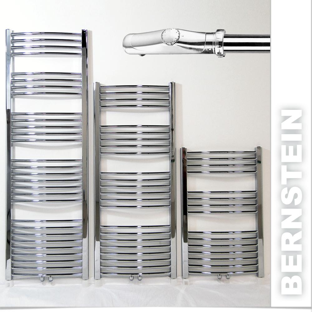 Badheizkoerper-Heizkoerper-Handtuchwaermer-Chrom-komplett-Elektro