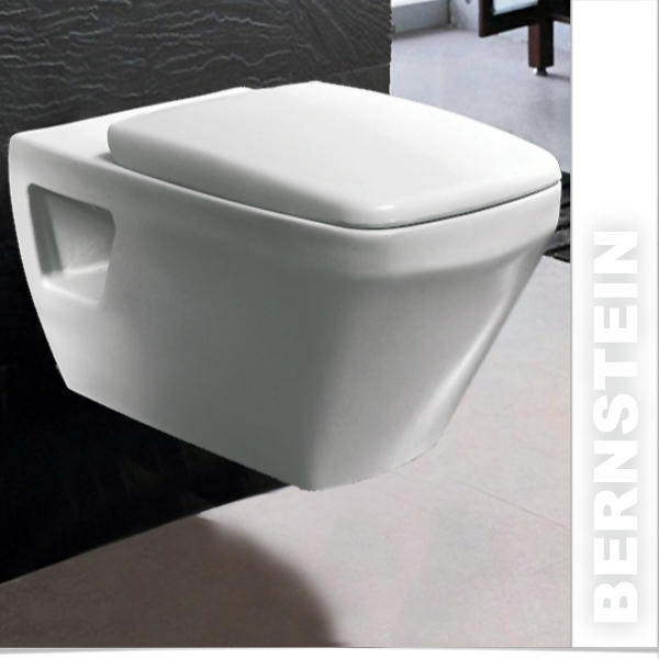 bernstein w801 luxus wand h nge wc toilette softclose ebay. Black Bedroom Furniture Sets. Home Design Ideas