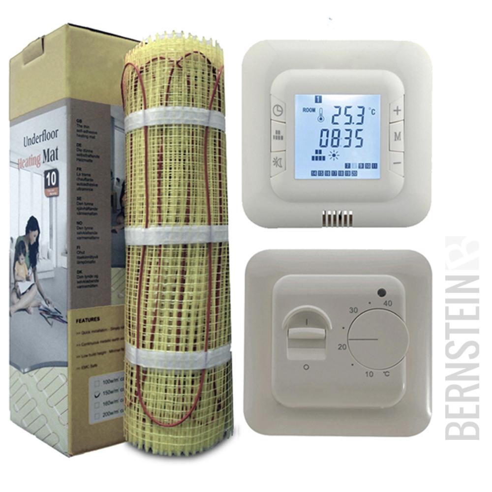 bernstein fu bodenheizung elektrisch 1 0 bis 12 m mit twin technologie ebay. Black Bedroom Furniture Sets. Home Design Ideas