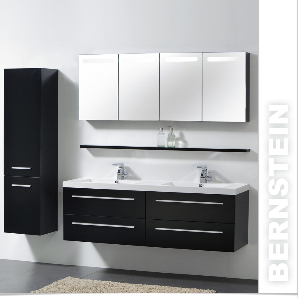 xxl bernstein badm belset 160cm 4farben waschbecken spiegelschrank h ngeschrank ebay. Black Bedroom Furniture Sets. Home Design Ideas