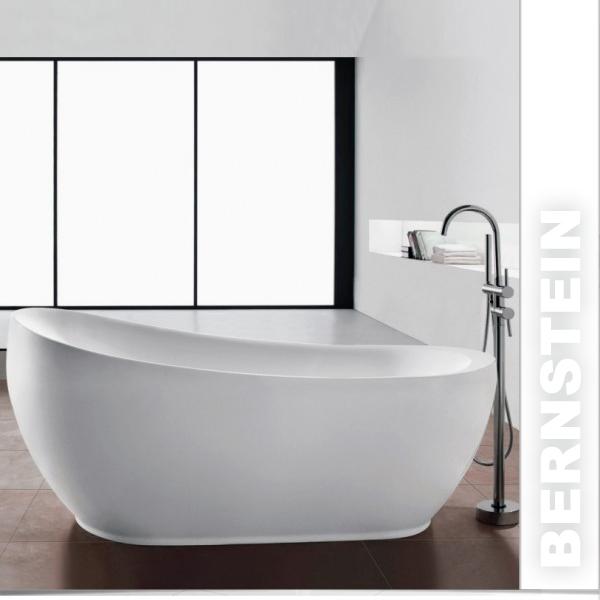 Details zu Freistehende Badewanne MAILAND ACRYL 180x85 inkl. Armatur