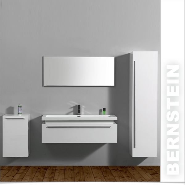 bernstein design badm belset badm bel badezimmer waschbecken spiegel wei ebay. Black Bedroom Furniture Sets. Home Design Ideas