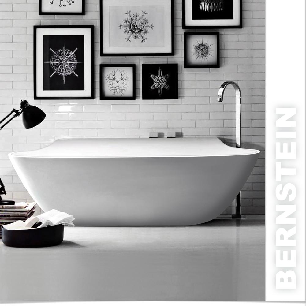 freistehende badewanne aus mineralguss luxx wei schwarz. Black Bedroom Furniture Sets. Home Design Ideas