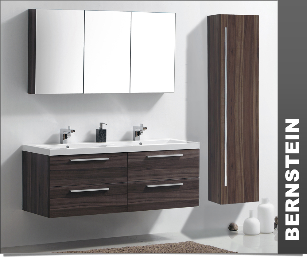 meuble de salle de bain armoire de toilette meuble mural lavabo double ebay. Black Bedroom Furniture Sets. Home Design Ideas