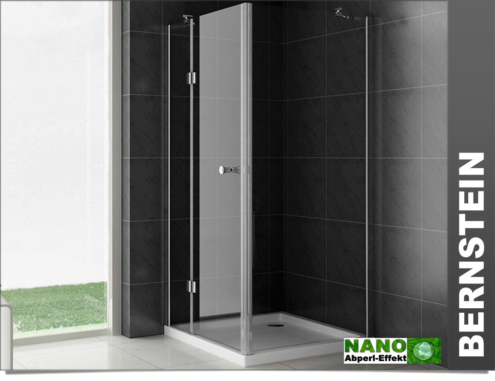 duschkabine eckig duschabtrennung glas echtglas nano versiegelung ebay. Black Bedroom Furniture Sets. Home Design Ideas