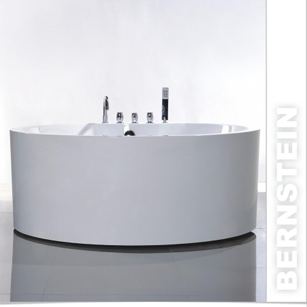 freistehende badewanne acryl diamond wei rund 150x150cm ebay. Black Bedroom Furniture Sets. Home Design Ideas