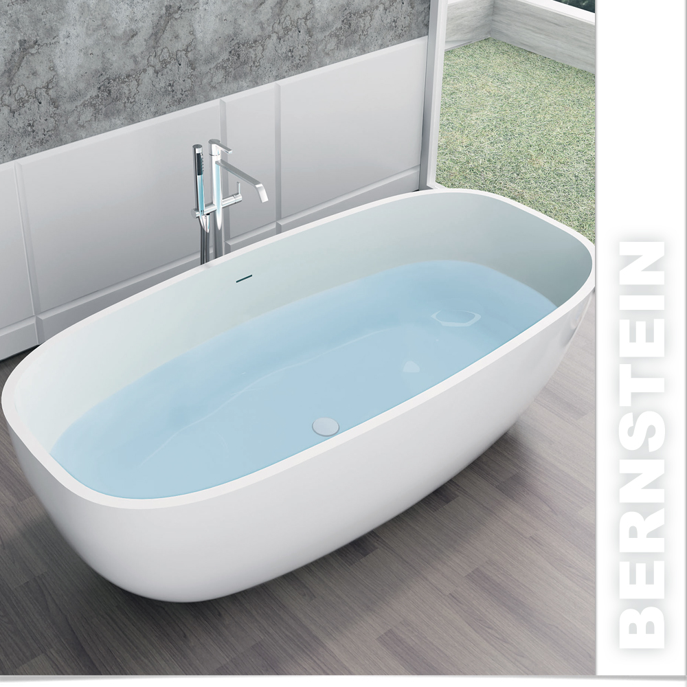 freistehende badewanne aus mineralguss ocean weiss ebay. Black Bedroom Furniture Sets. Home Design Ideas