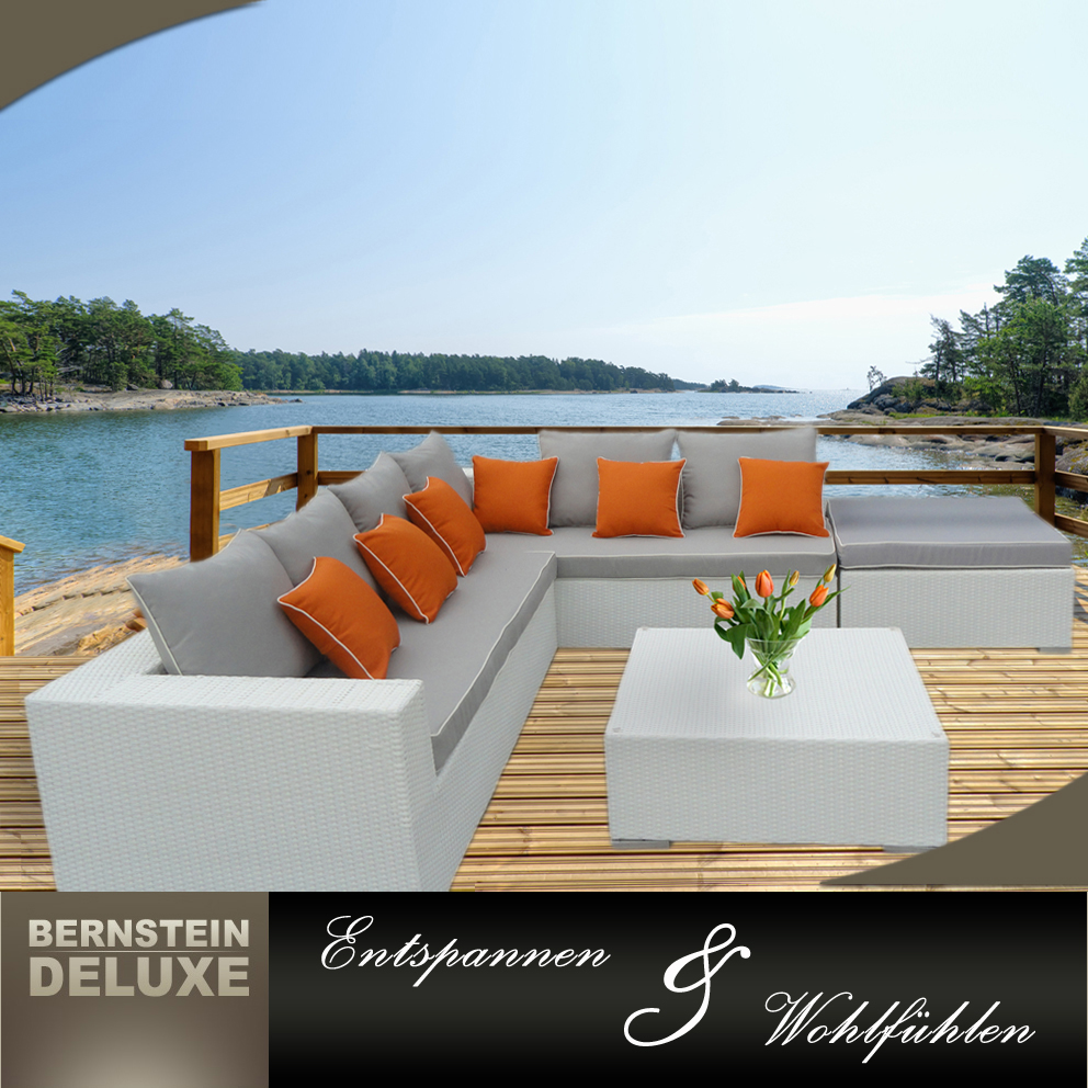 edle rattan sofagarnitur gartenm bel set polyrattan lounge rx 012 ebay. Black Bedroom Furniture Sets. Home Design Ideas