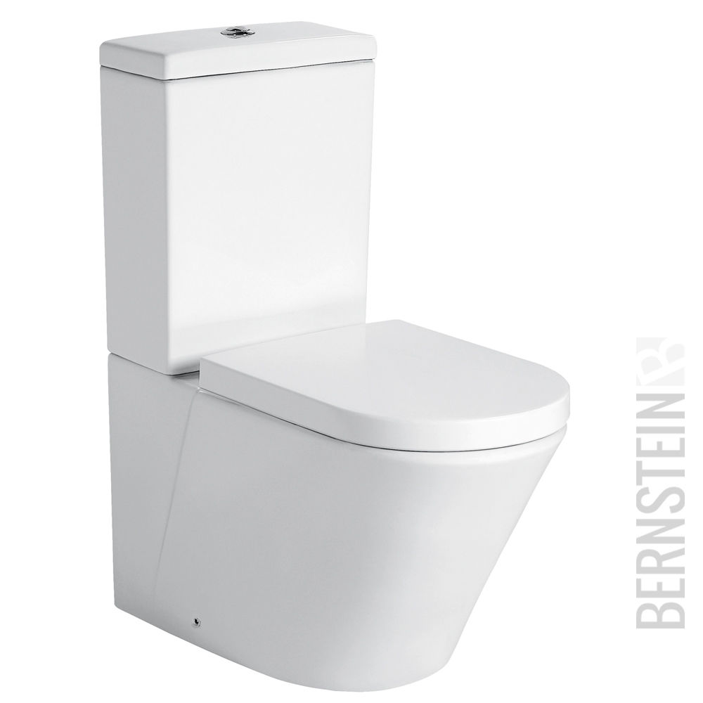 bernstein stand wc mit sp lkasten toilette ct1088 soft close deckel ebay. Black Bedroom Furniture Sets. Home Design Ideas