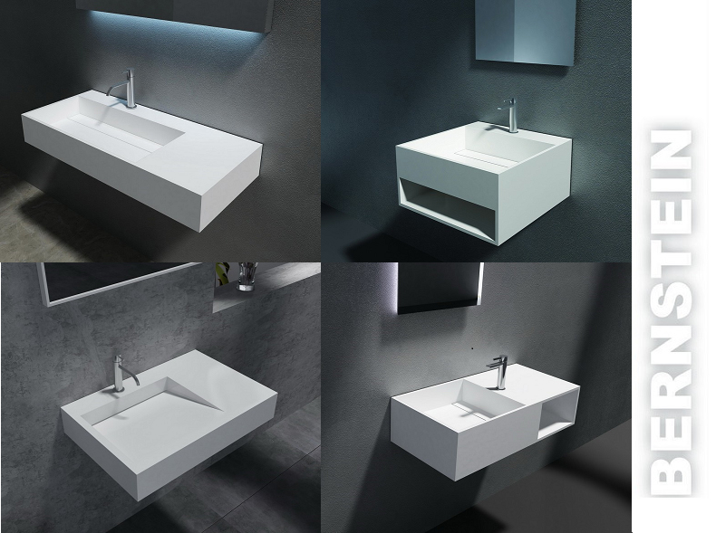 Wall Hung Wash Basin, Wall Mounted Sink, stone resin sink, with waste ...