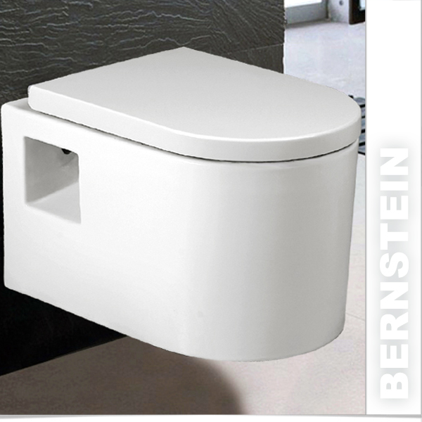 bernstein luxus wand h nge wc toilette nano beschichtung softclose w 8037 ebay. Black Bedroom Furniture Sets. Home Design Ideas