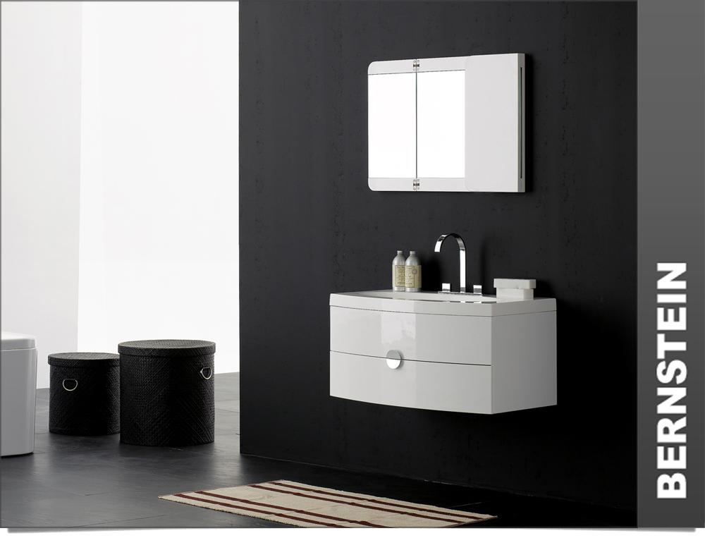 Badm bel set t920 wei waschbecken unterschrank spiegel ebay - Bernstein waschbecken ...