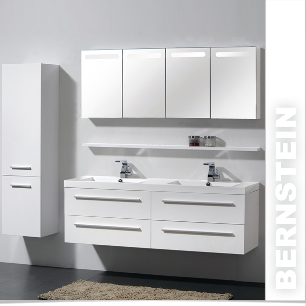 xxl bernstein badm bel badezimmer 160cm waschbecken spiegelschrank h ngeschrank ebay. Black Bedroom Furniture Sets. Home Design Ideas