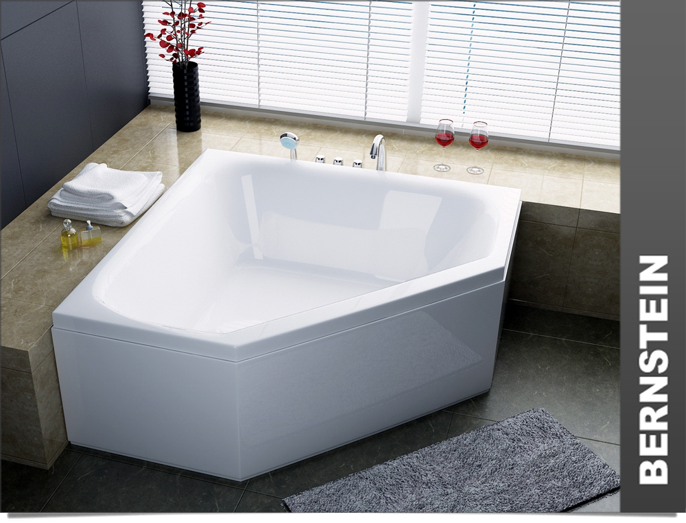 bernstein acryl badewanne eckwanne 160x160 rahmen a ebay. Black Bedroom Furniture Sets. Home Design Ideas