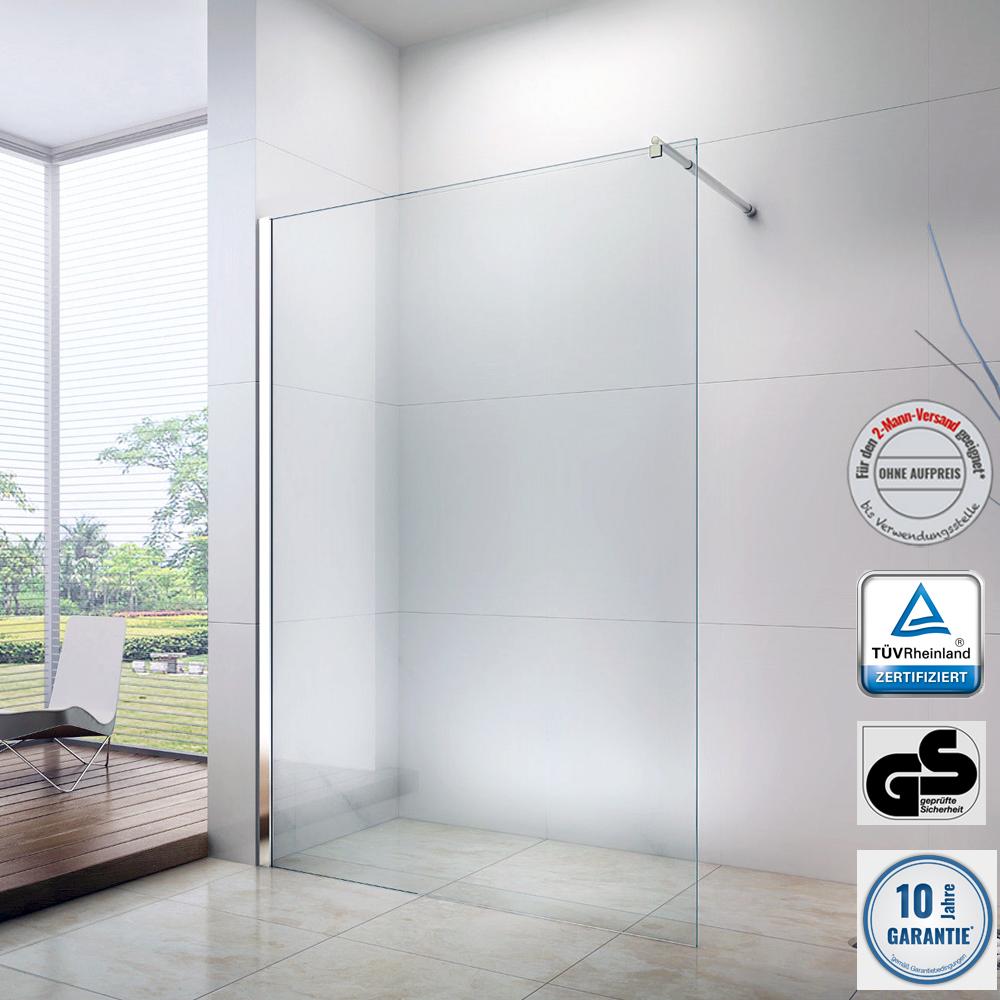 duschabtrennung duschwand walk in nano 10mm esg echtglas ex101 breite w hlbar ebay. Black Bedroom Furniture Sets. Home Design Ideas