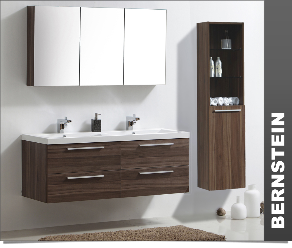 meuble de salle de bain ensemble pour salle de bain r1449 marron noix ebay. Black Bedroom Furniture Sets. Home Design Ideas