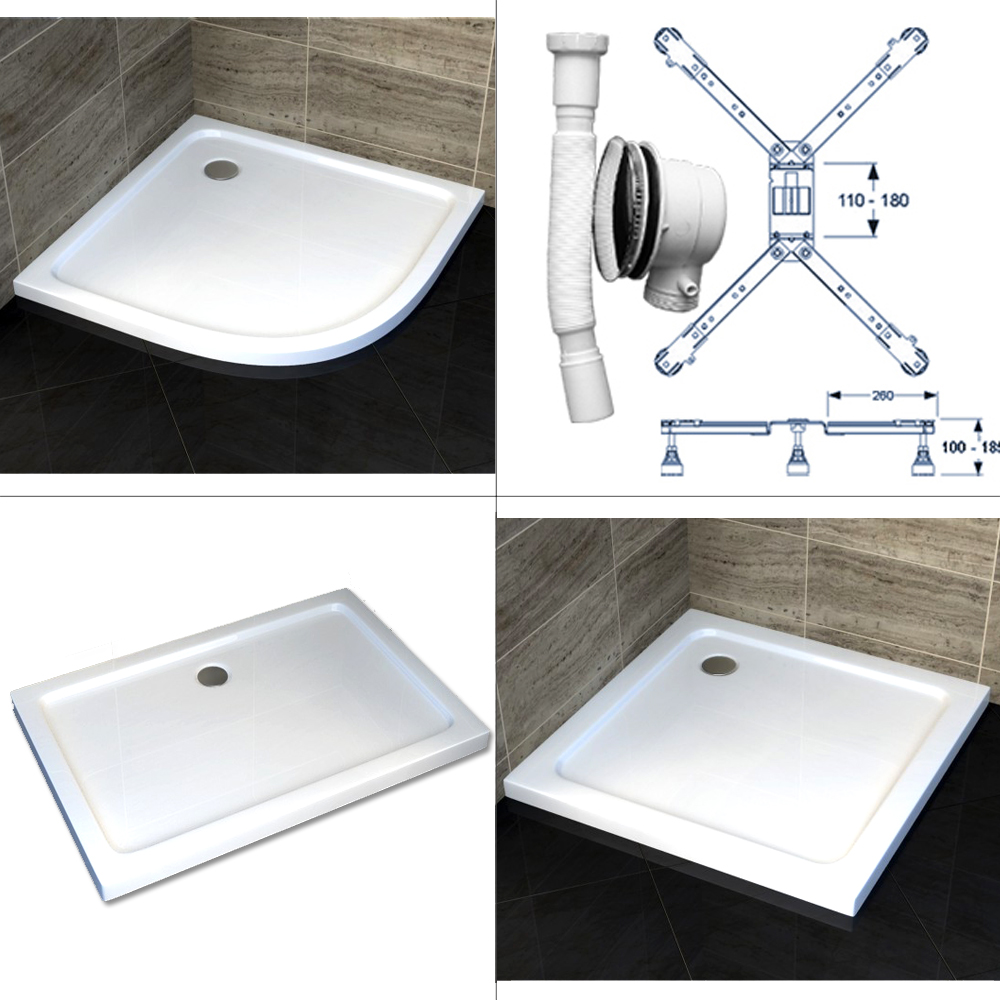 duschtasse duschwanne flach acryl acrylwanne viertel eckig