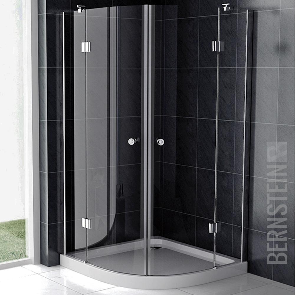 bernstein duschkabine duschabtrennung glas viertelkreis duschwanne anti rutsch ebay. Black Bedroom Furniture Sets. Home Design Ideas