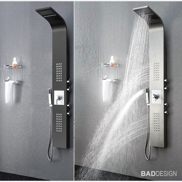 duschpaneel edelstahl thermostat sedal regendusche. Black Bedroom Furniture Sets. Home Design Ideas