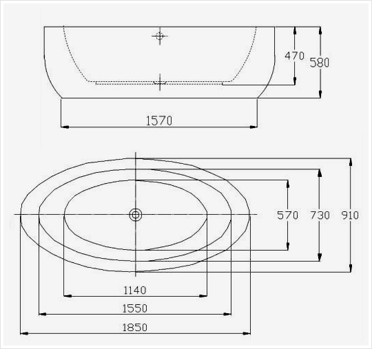 Vasca da bagno freestanding modena bs 859 con for Dado arredamenti modena