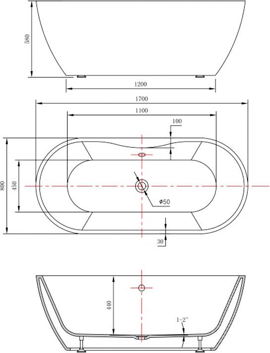 baignoire ind pendante acrylique jazz plus blanc 170x80cm. Black Bedroom Furniture Sets. Home Design Ideas