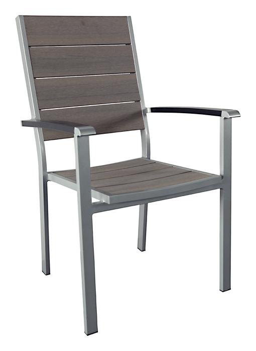Gartenstühle alu stapelbar  Gartentisch SET ALU grau Auflage in Holzoptik 200x100   eBay