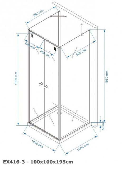 douche cabine de douche u form anti 416 3 cloison de douche nano esg verre ebay. Black Bedroom Furniture Sets. Home Design Ideas