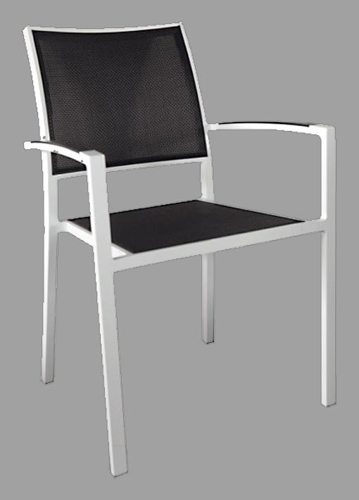 Gartentisch SET ALU weiß mit Spraystone Glasplatte 160//180//200cm