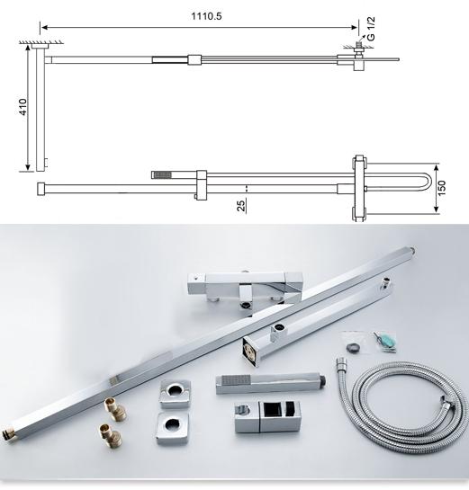 Design Thermostat Set Duschsystem Brause Set Duschsäule Duscharmatur ...