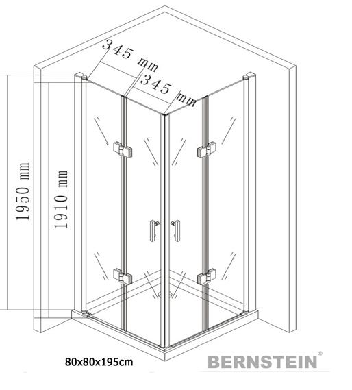 Cabina de ducha ducha cabina ducha puerta de plegamiento - Cabina ducha rectangular ...