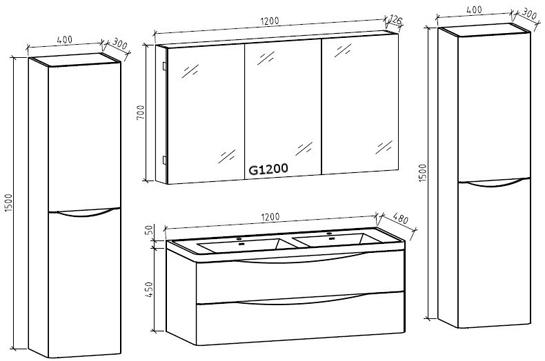 Badm bel wei schwarz waschbecken unterschrank for Bad spiegelschrank schwarz