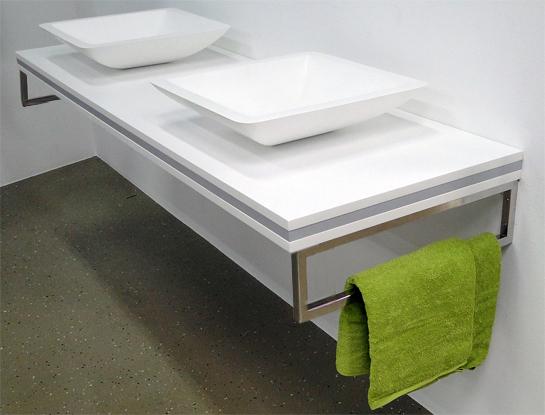 waschtischkonsole f r waschtischplatte waschbeckenauflage einbau aufsatzwasch ebay. Black Bedroom Furniture Sets. Home Design Ideas