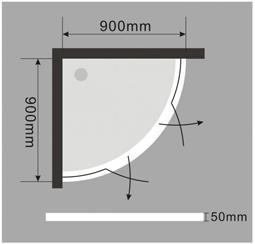 duschtasse duschwanne flach acryl acrylwanne viertel eckig mepa gestell ebay. Black Bedroom Furniture Sets. Home Design Ideas