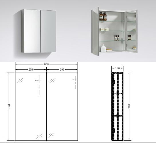 Bernstein mobili da bagno set 60cm lavandino e base bianco - Lucidare metallo a specchio ...